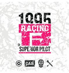 Car racing emblem vector