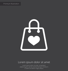 Shopping bag premium icon vector