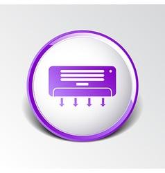 Air conditioner temperature icon celsius cold vector
