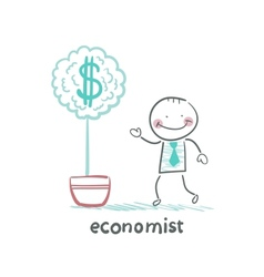 Economist grow a money tree vector