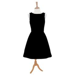 Black dress vector