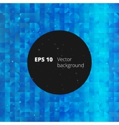 Mosaic from circle and square elements for your vector