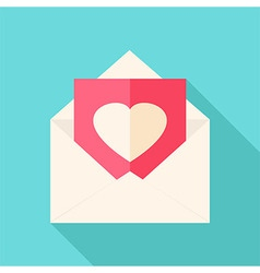 Envelope with love letter vector