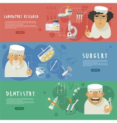 Medical health care horizontal banners vector