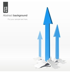 Growth arrows - success concept vector