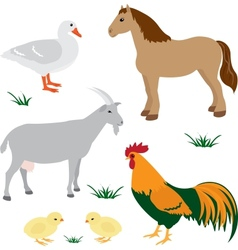 Farm animals set 2 vector