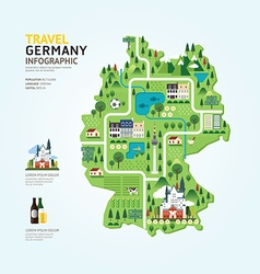 Infographic travel and landmark germany map vector