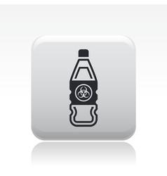 Bio danger icon vector