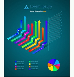 Infographic ribbon vector