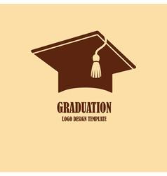 Graduation cap logo design vector