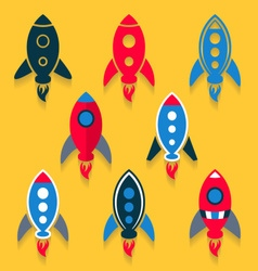 Rocket icons collection vector