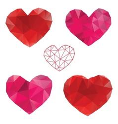 Heart love set of design elements vector