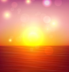 Tropical sunset summer coast vector