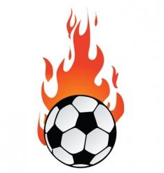 Flaming soccer vector