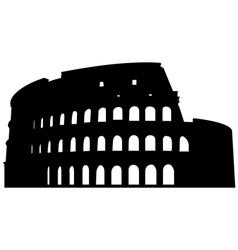 Roman coliseum silhouette vector