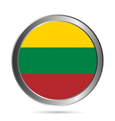 Lithuania flag button vector