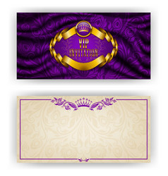Elegant template for vip luxury invitation vector