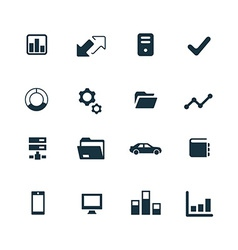 Corporate icons set vector