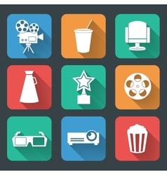 Cinema entertainment pictograms collection vector