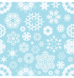 Winter seamless snowflake background vector