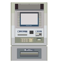 Atm frontally painted vector