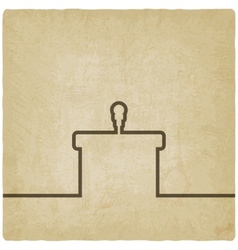 Podium with microphone old background vector