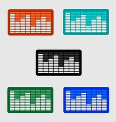 Volume control level icon on the screen monitor vector
