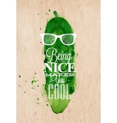 Poster mr cucumber vector