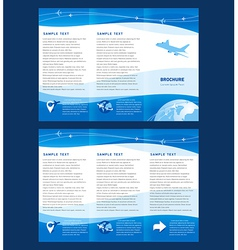 Brochure airplane takeoff fligh vector