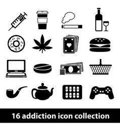 Addiction icon vector