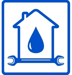 Water in home - plumber symbol vector