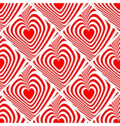 Design seamless red heart background vector