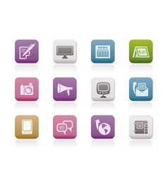 Communication channels and social media icons vector