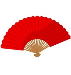 Red folding fan vector