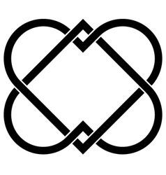 Linked hearts vector