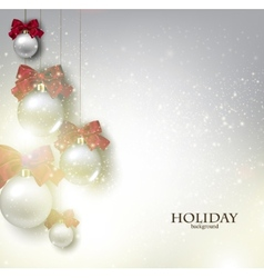 Christmas background with balls xmas baubles vector