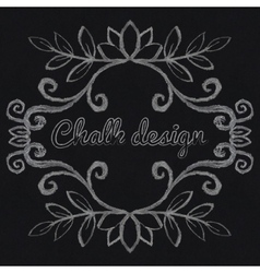 Chalk decorative frame vector