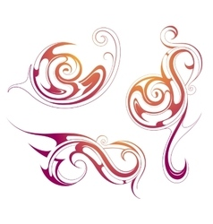 Liquid ornaments vector