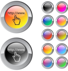 Www click multicolor round button vector