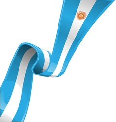 Argentina ribbon flag vector