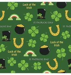 St patricks day pattern vector