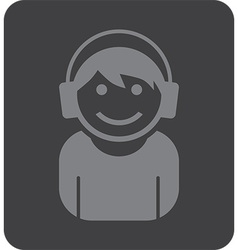 Teenager icon vector