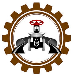 The icon of the oil industry vector