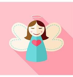 Girl cute angel vector