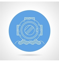 Round icon for scuba helmet vector