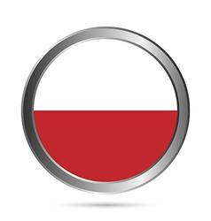 Poland flag button vector