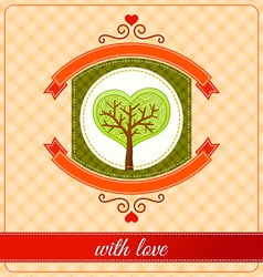 Combination of heart and tree ornament vector