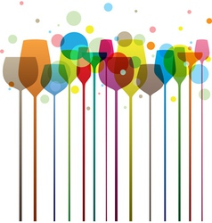 Party glasses vector