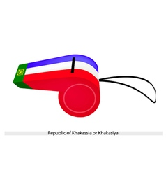 A whistle of the republic of khakassia vector