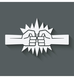 Punch fists fight symbol vector